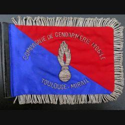 GEND : Fanion 18 x 12,5  de commandement de la compagnie de gendarmerie mobile de Toulouse Mirail en cannetille