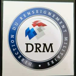 DRM : Autocollant de la direction du renseignement militaire (Diam 8 cm)