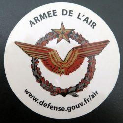 Autocollant Armée de l'air  (Diam 11 cm)