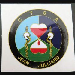 CTSA : Autocollant du centre de transfusion sanguine des armées  (Diam 8 cm)
