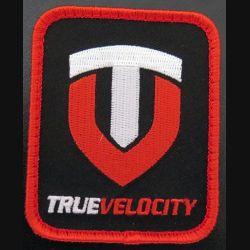 Insigne tissu des cartrouches true velocity 6,2 x 7,7 cm sur scratch