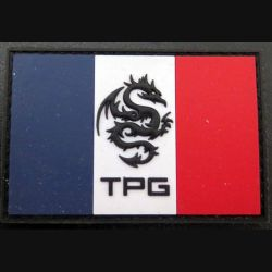 Insigne plastique mousse en relief des TPG dragon team sur scratch