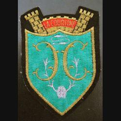 35° CC : insigne tissu de la 35° Compagnie de camp de La Courtine 11 x 8 cm