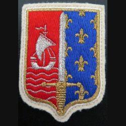 CMIDF : insigne tissu du commandement militaire d'ile de france terre avec crochets