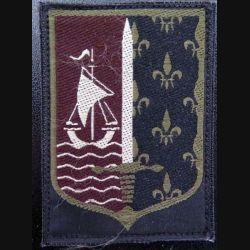 CMIDF : insigne tissu basse visibilité du commandement militaire d'ile de france terre sur scratch
