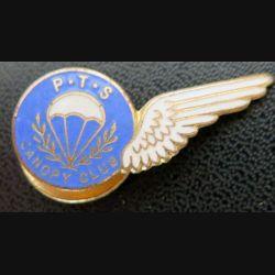 PTS : insigne miniature du PTS Canopy Club de fabrication Miller Branston émail