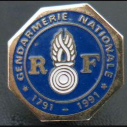 Pin's Gendarmerie : pin's de la gendarmerie nationale 1791 - 1991 Logo Motiv