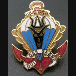 1° RPIMA 2° CIE : pin's de la 2° compagnie du 1° régiment de parachutiste d'infanterie de marine fab Winner émail