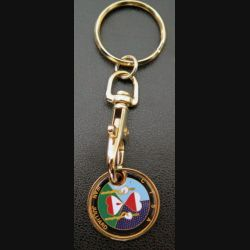 CTSA : porte clefs jeton de caddie du centre de transfusion sanguine des armées