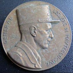 Plaque des 100 kms de la Division Leclerc du 6 juin 1982 en bronze de diamètre 50 mm