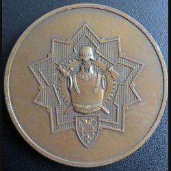 ESGM : plaque de l'Ecole supérieure du génie militaire de diamètre 7 cm en métal bronzé