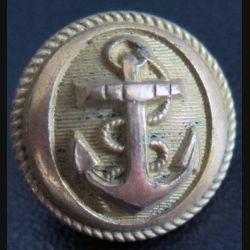 Vieux bouton de la marine diamètre 2 cm strié  époque 3° république A.M & Cie 19 M