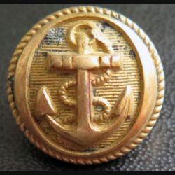 Vieux bouton de la marine diamètre 1,8 cm strié  époque 3° république A.M & Cie