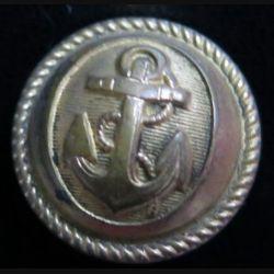 Vieux bouton de la marine diamètre 2 cm strié  époque 3° république Supérieur 20 M