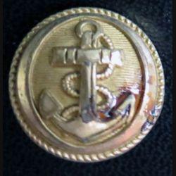 Vieux bouton de la marine diamètre 1,8 cm strié  époque 3° république Chapsal Michaud