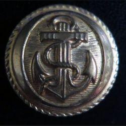 Vieux bouton de la marine diamètre 2,2 cm strié  époque 3° république