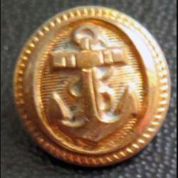 Vieux bouton de la marine diamètre 0,7 cm strié  époque 3° république T.W & W
