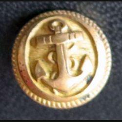 Vieux bouton de la marine diamètre 0,7 cm strié  époque 3° république