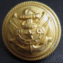 Vieux bouton d'amliral de la marine diamètre 2,1 cm époque 3° république Supérieur 21 1/2