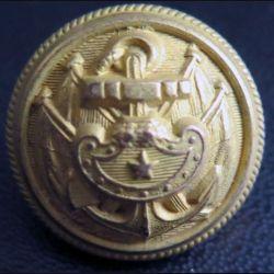 Vieux bouton d'amliral de la marine diamètre 2 cm époque 3° république A.M & Cie