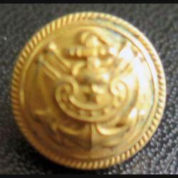 Vieux bouton d'amliral de la marine diamètre 1,4 cm époque 3° république Supérieur 14