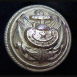 Vieux bouton d'amliral de la marine diamètre 1,3 cm époque 3° république Supérieur