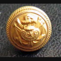 Vieux bouton d'amliral de la marine diamètre 1,1 cm époque 3° république