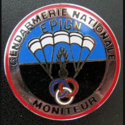 EPIGN : Brevet de moniteur parachutiste Escadron parachutiste intervention Gend Nat EPIGN Boussemart n° 38/A