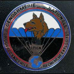 EPIGN : groupe cynophile recherche explosifs de l'EPIGN Boussemart 2002 N° 38 A