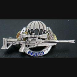 EPIGN : Brevet de tireur d'élite de l'EPIGN Boussemart 2002 modèle argent sur fond bleu n° 37/A