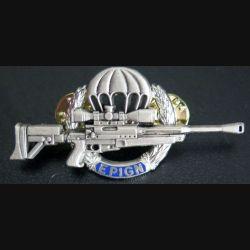 EPIGN : Brevet de tireur d'élite de l'EPIGN Boussemart 2002 modèle argent sur fond bleu n° 38/A