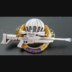 EPIGN : Brevet de tireur d'élite de l'EPIGN Boussemart 2002 modèle doré sur fond bleu n° 38/A