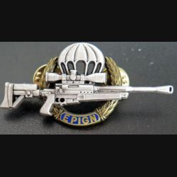 EPIGN : Brevet de tireur d'élite de l'EPIGN Boussemart 2002 modèle bronze sur fond bleu n° 36/A
