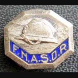 FNASOR : insigne de boutonnière de la FNASOR poinçon arthus en émail