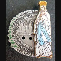 PMI : insigne métallique du pèlerinage militaire international de Lourdes Ballard