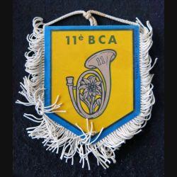 11° BCA : Fanion 10 x 8,5 cm du 11° bataillon de chasseurs alpins (FAR) de Barcelonnette