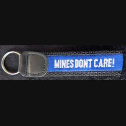 PORTE CLES : porte clés tissu et cuir Be Mine Aware 14,8 cm x 3 cm