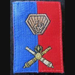 B ART : insigne en tissu de la brigade d'artillerie avec crochets