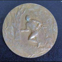 ESGM : plaque de sports de l'Ecole supérieure du génie militaire de diamètre 5 cm 1983