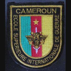 Insigne tissu de l'école supérieure internationale de guerre du Cameroun hauteur 8,7 cm