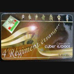 TELECARTE : télécarte 4° Régiment étranger de la Légion 3 heures passman