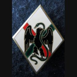 1° RE : insigne métallique du 1° régiment étranger de fabrication Drago Paris
