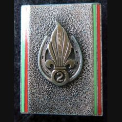 2° REI : insigne du 2° régiment étranger d'infanterie de fabrication Andor G. 2333 en émail