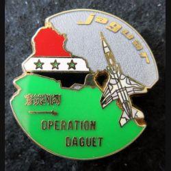 ESC JAGUAR DAGUET : insigne métallique de l'escadron Jaguar de l'opération DAGUET Boussemart
