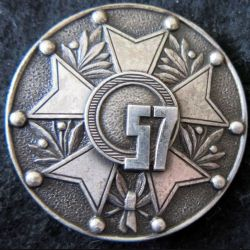 57° RI : Insigne béret du Commando de chasse du 57° régiment d'infanterie en Algérie de fabrication Drago Paris