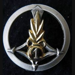 1° ESPLE : insigne de béret du 1° escadron saharien porté de la légion étrangère fabrication Drago Paris R 93