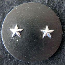 INSIGNE DE BÉRET : Insigne de béret  de général de brigade 2 étoiles argentées L. Bichet