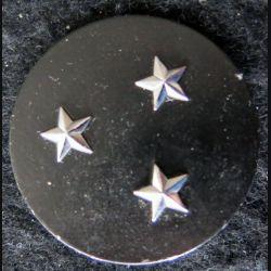 INSIGNE DE BÉRET : Insigne de béret  de général de division 3 étoiles argentées L. Bichet