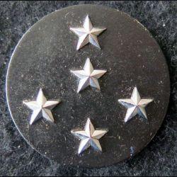 INSIGNE DE BÉRET : Insigne de béret  de général d'armée 5 étoiles argentées L. Bichet