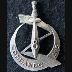 8° ZOUAVE : Insigne de béret du Commando 295 du 8° Zouave Arthus Bertrand retirage